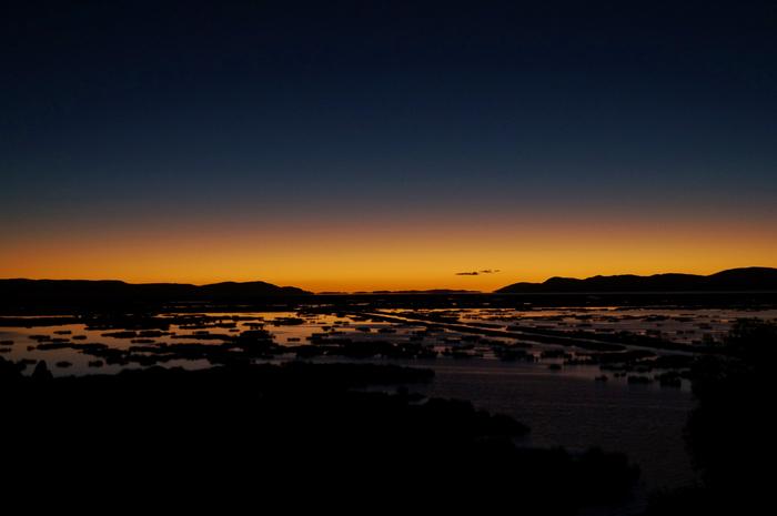 Amanecer desde el Hotel Libertador Lago Titicaca en Perú/Daybreak from Hotel Libertador Lago Titicaca in Peru