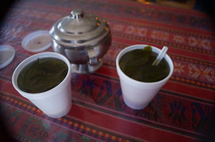 Breve parada para un mate de coca en el Colca/A short stop for a coca tea in the Colca